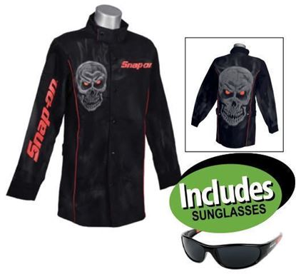 Picture of XXAPR215 Welding Jacket 2XL includes Sunglasses