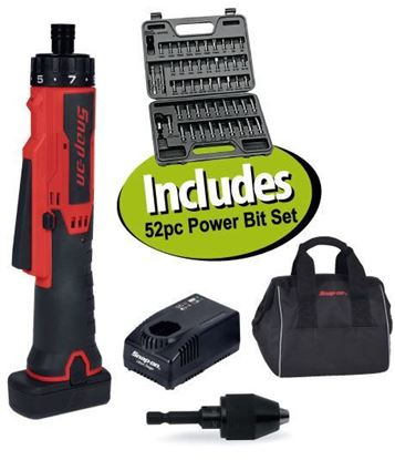 Picture of XXJUN201 14.4v Cordless In-line Screwdriver/Drill Kit Includes 52pc Power Bit Set