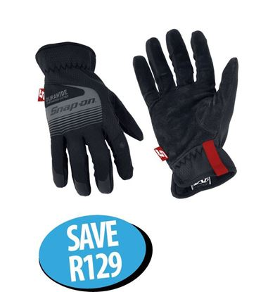 Picture of XXJUN211 Technician's Gloves Medium With Leather Palm & Touch Screen Capability